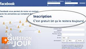 Page d'accueil Facebook